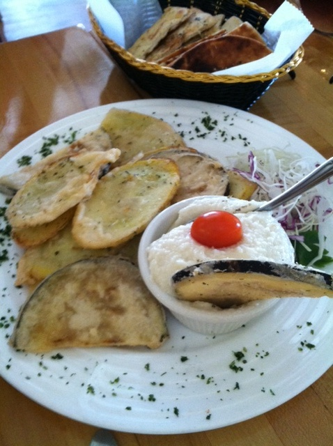 Greek Chips with Skordalia ( Greek Taverna)